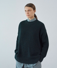 Cotton Linen Crew Neck GREEN