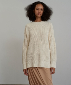 Cotton Linen Crew Neck OFFWHITE
