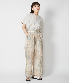 Marble print piping easy pants
